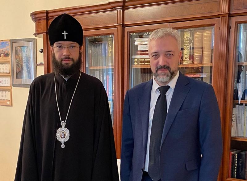 Патриарший экзарх встретился c Евгением Примаковым