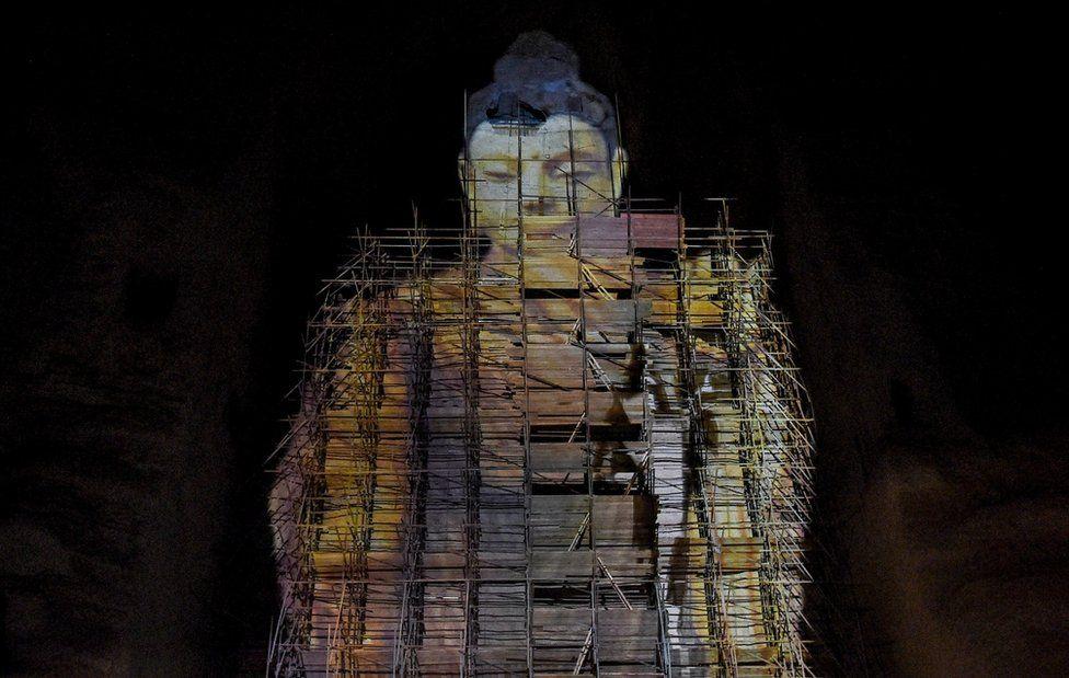 Фото: 3D-возвращение Будды в Бамиане, разрушенного талибами