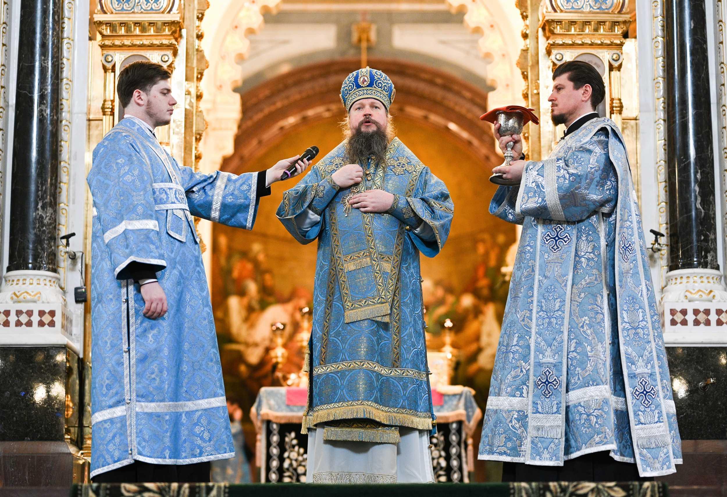 В праздник Благовещения Патриарх Кирилл совершил Литургию