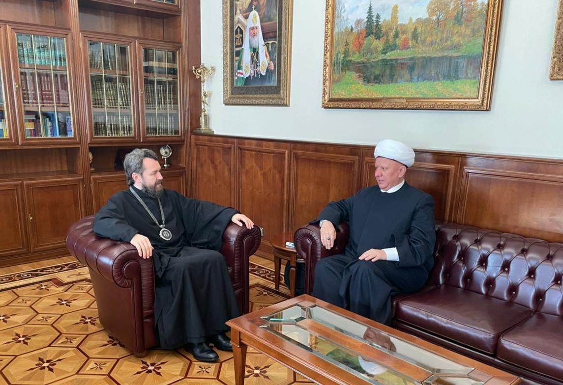 Митрополит Иларион встретился с муфтием Альбиром Кргановым