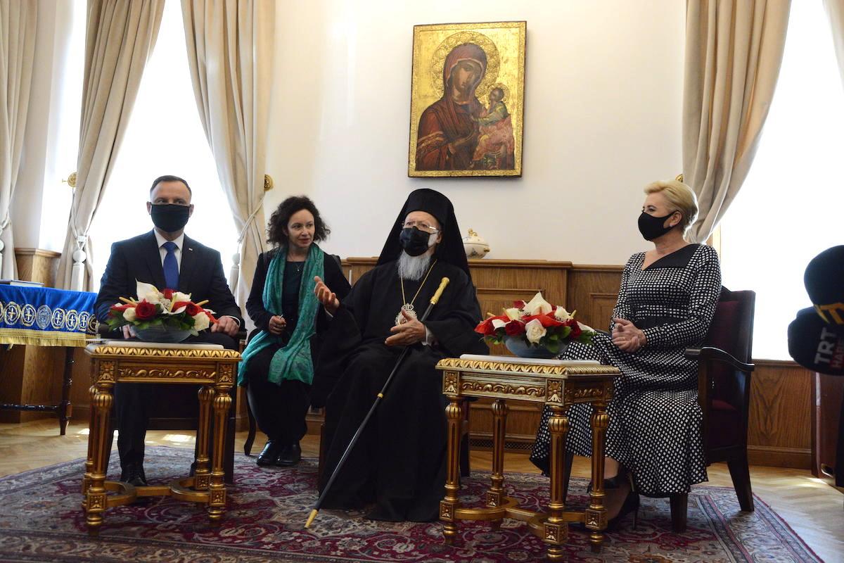 Президент Польши с супругой посетили Патриарха Варфоломея