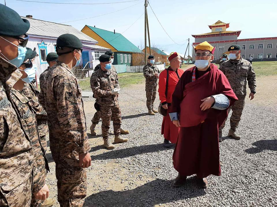 Монгольские военные посетили Иволгинский дацан перед парадом
