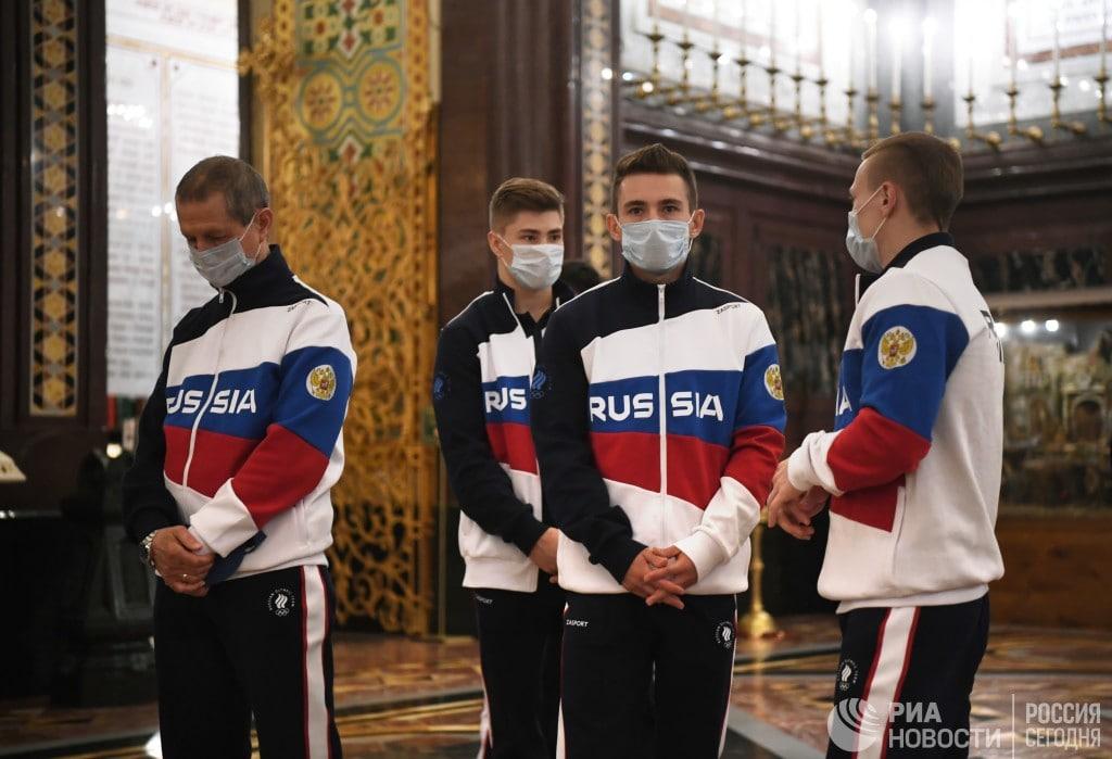 Олимпийцы России молились в Москве перед Олимпиадой в Токио