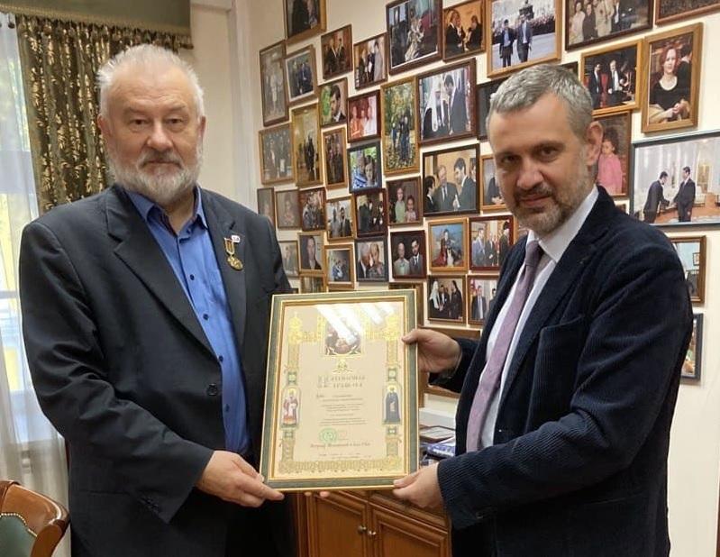Легойда вручил грамоту руководителю «Русской народной линии»