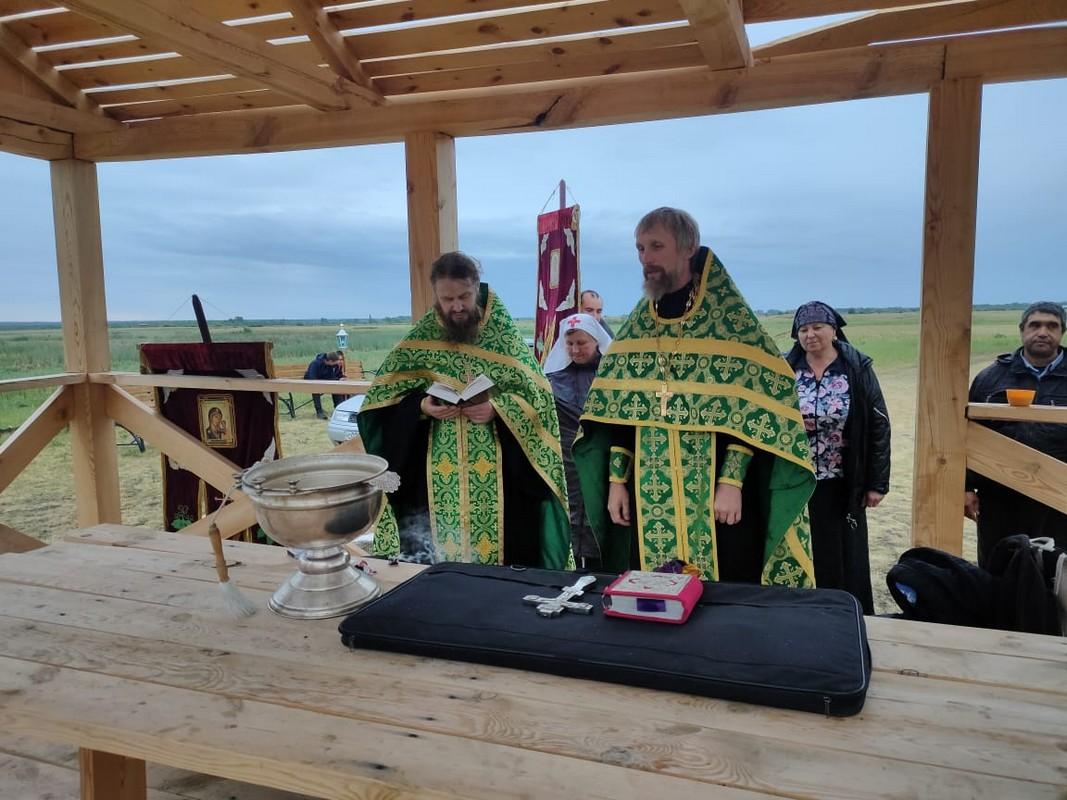 Священники совершили молебен на языческом капище в Кургане