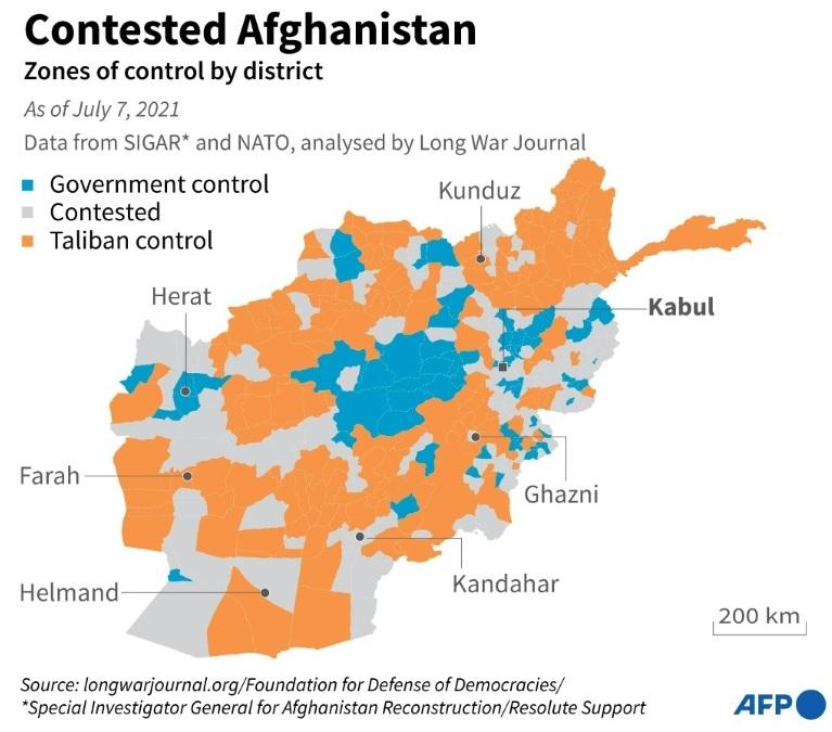 Афганистан: талибы* пытаются взять столицы трех провинций