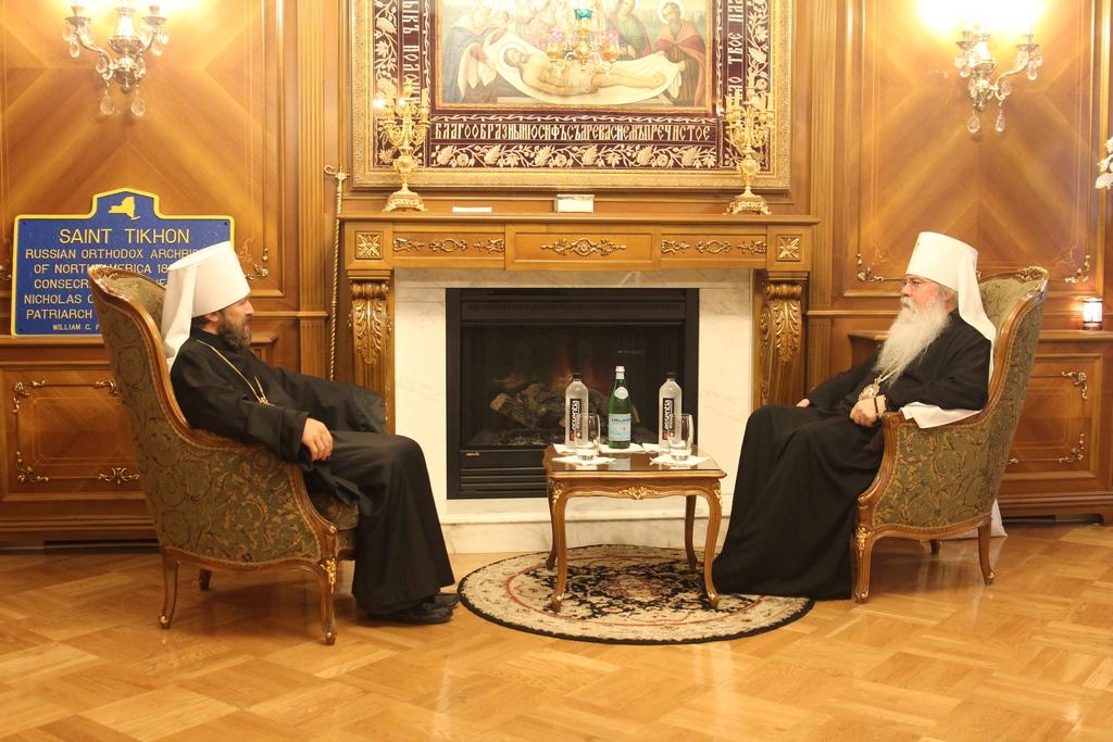 Митрополит Иларион встретился с Предстоятелем Церкви в Америке