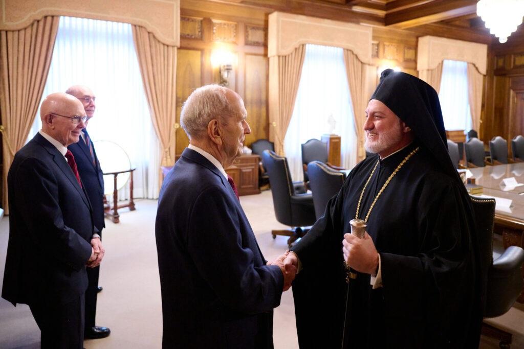 Руководители мормонов приняли архиепископа Елпидифора