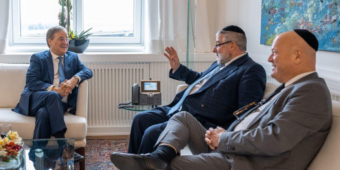 Раввин Гольдшмидт и Армин Лашет обсудили будущее евреев и ФРГ
