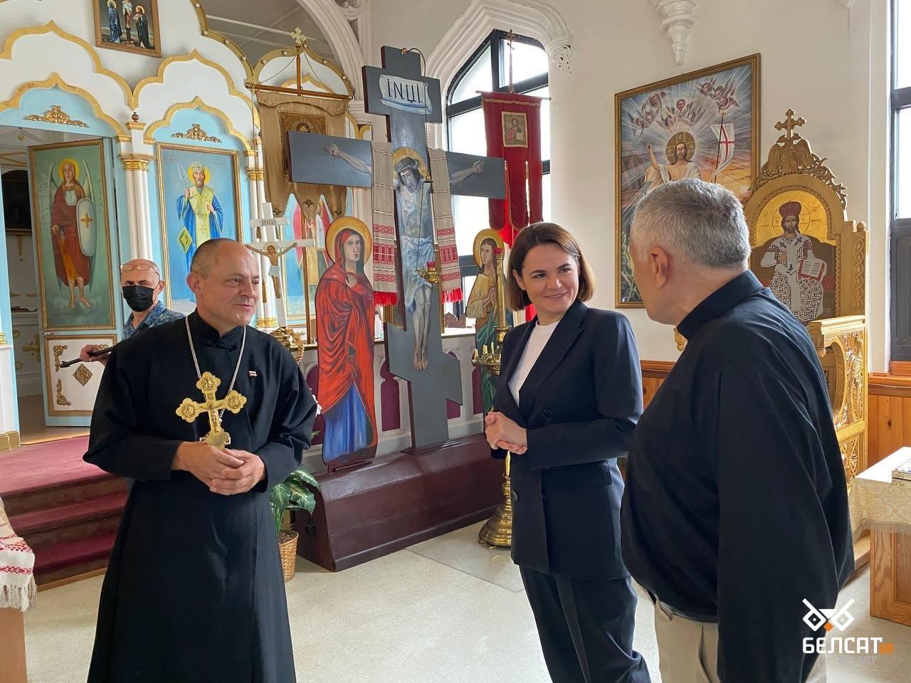 Тихановская встретилась в церкви с белорусской диаспорой в США