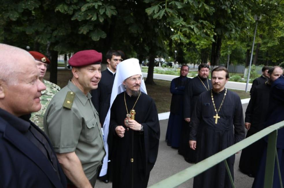 Экзарх в Белоруссии встретился с командирами и воинами МВД