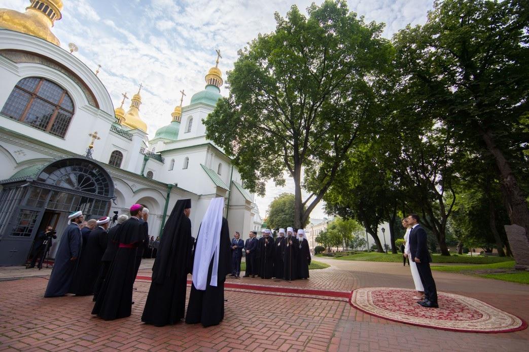 В Киеве провели молебен по случаю независимости Украины