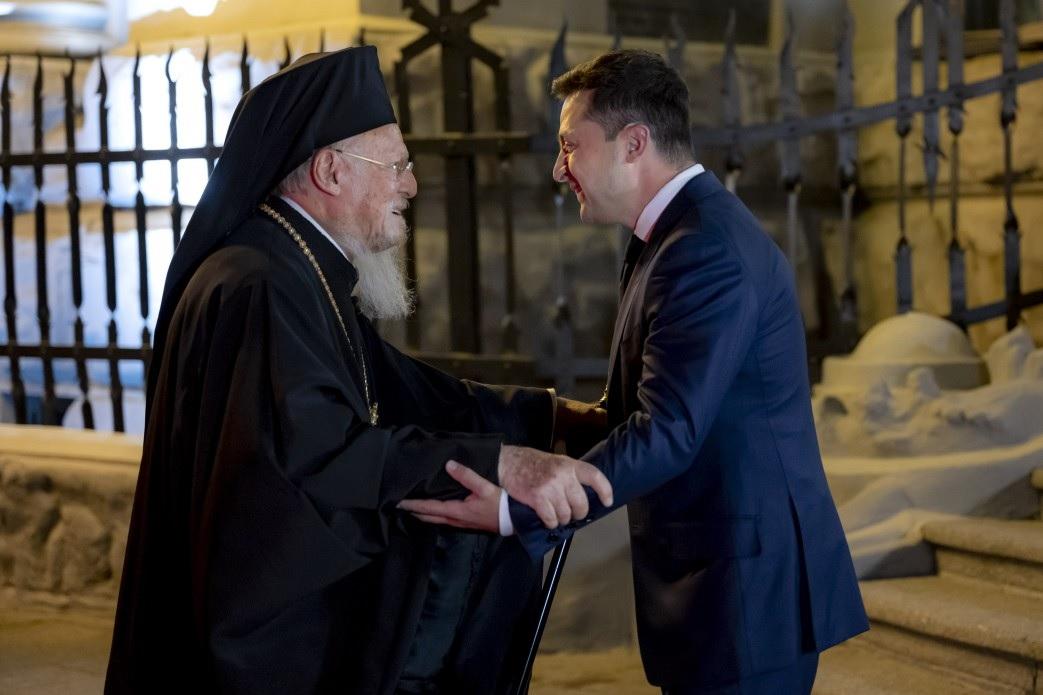 Зеленский встретился со Вселенским Патриархом Варфоломеем