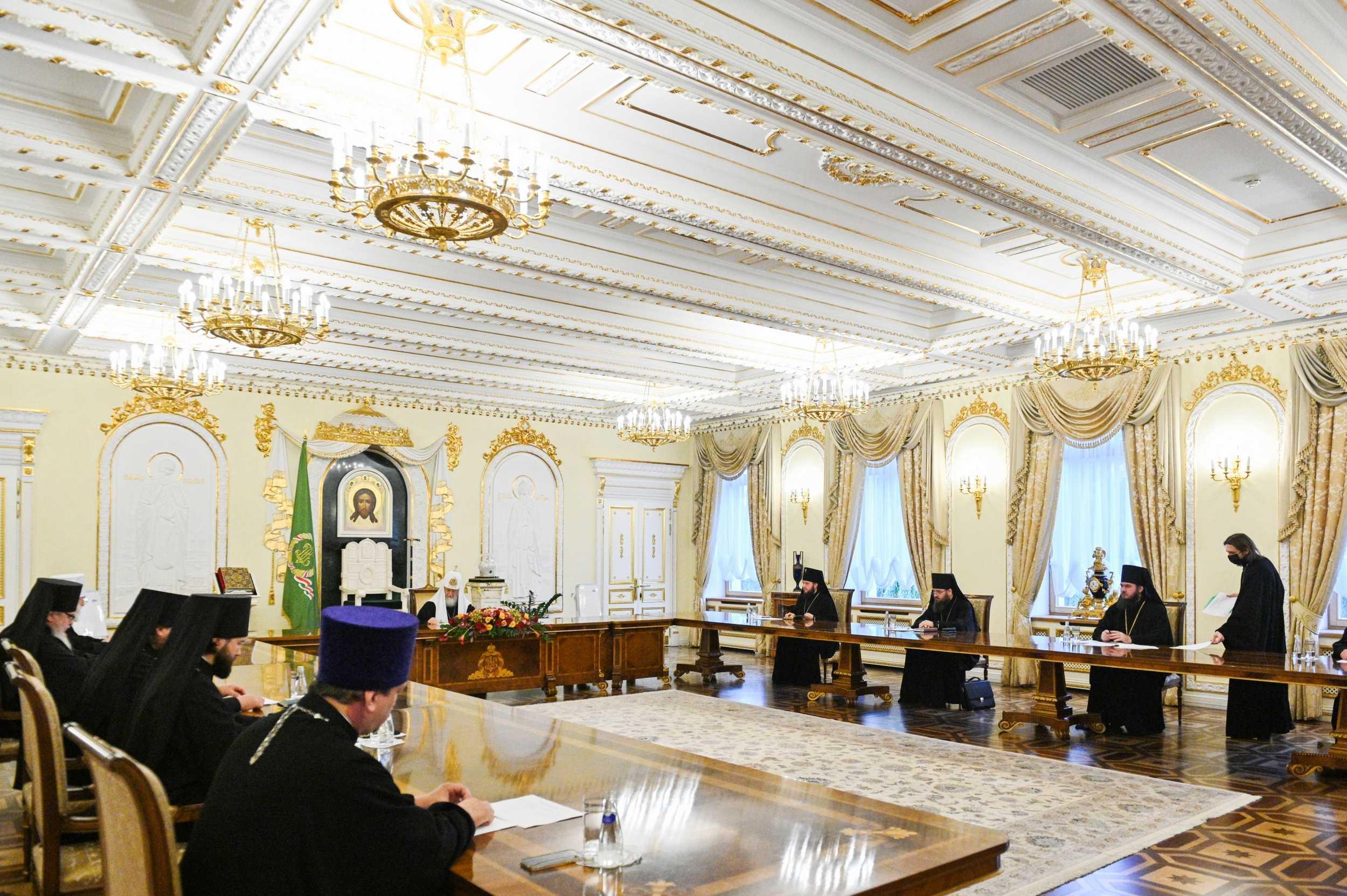 Патриарх Кирилл провел Архиерейский совет Московской митрополии