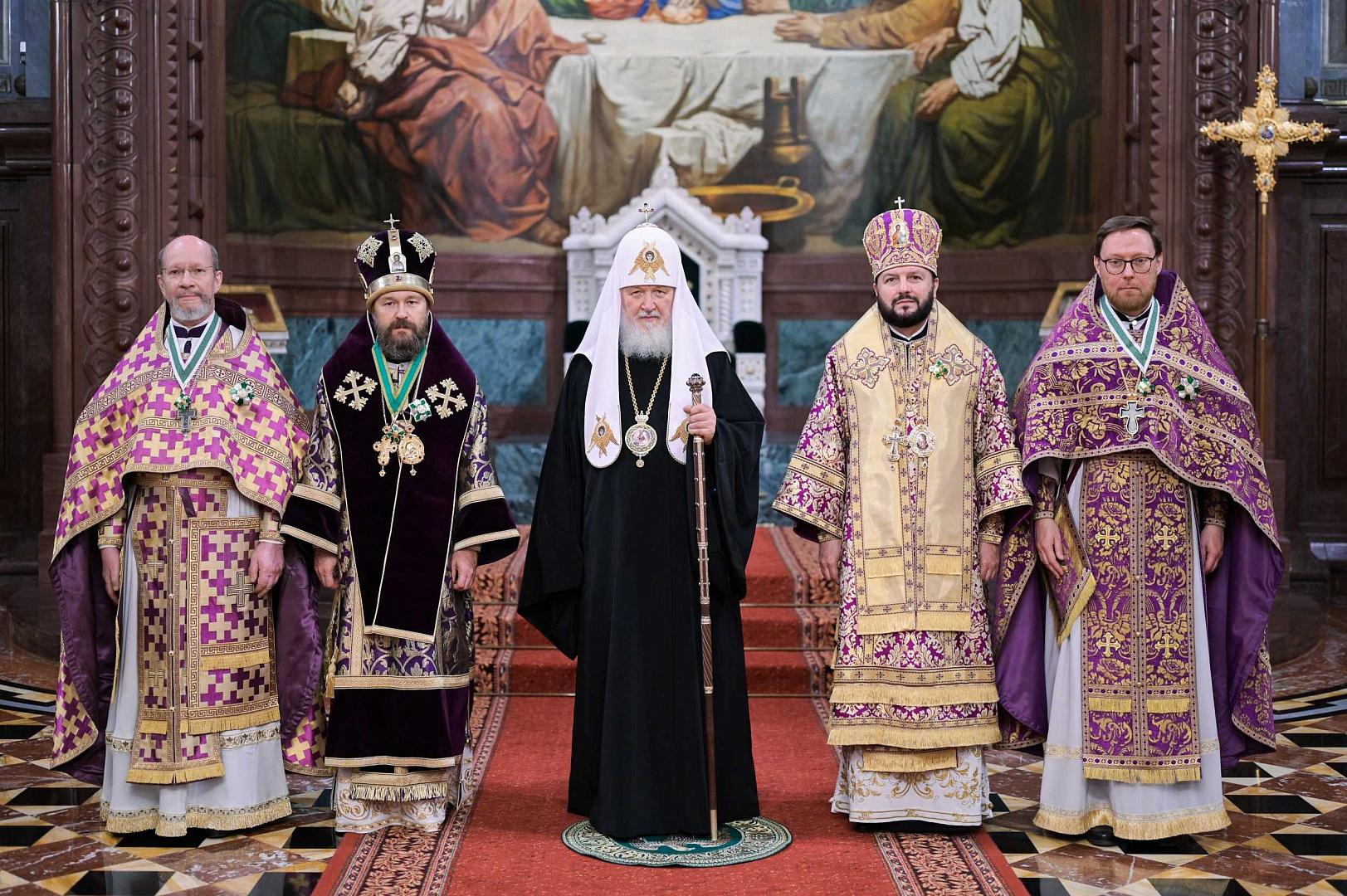 Святейший Патриарх Кирилл вручил церковные награды