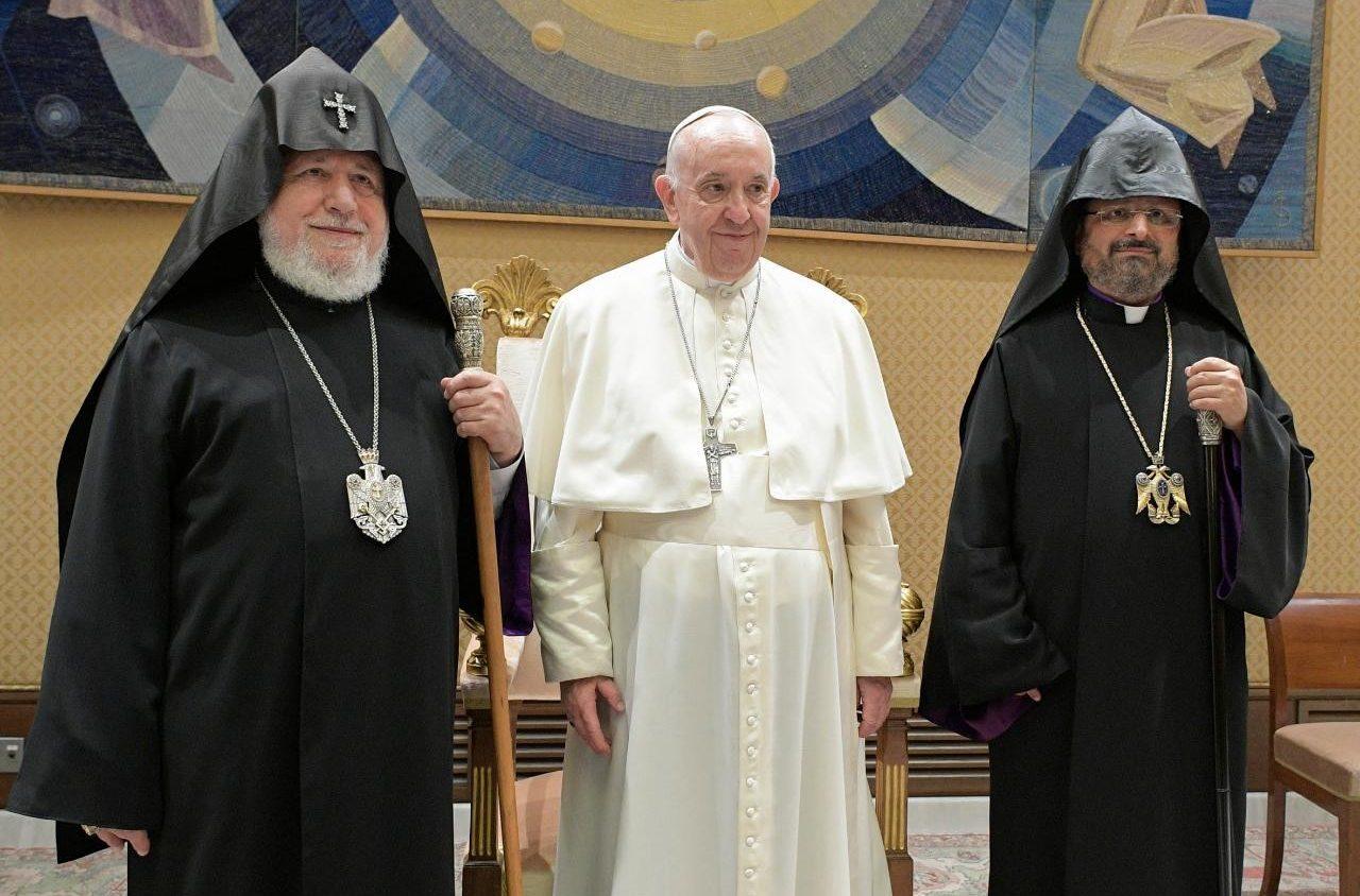 Католикос всех армян встретился с Папой Франциском